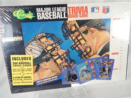 Vintage Major League Baseball Trivia Board Game (270R3s2)