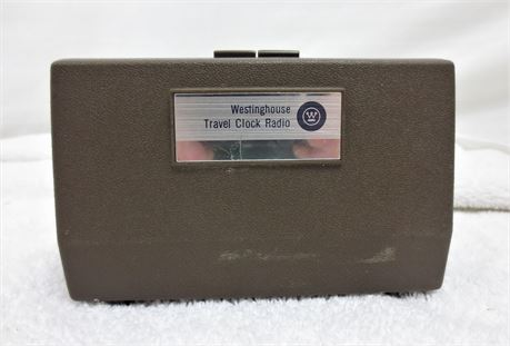 Vintage 1960s Westinghouse Travel Alarm Clock and AM Radio Fully Operational