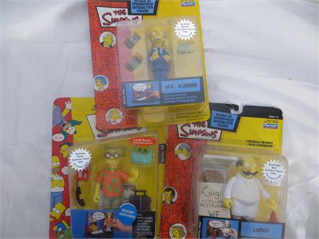 Simpsons Figures, LOT of 3, #B