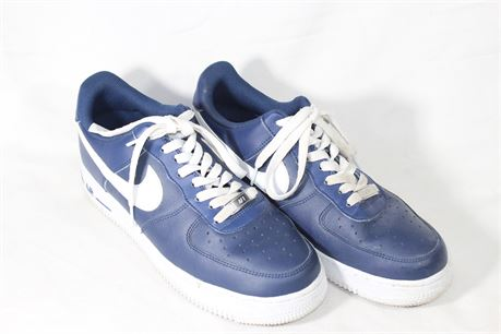 Nike Air Force 1 Low '07 Midnight Navy Blue White, Size 8 M