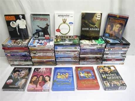 Huge Lot Of 80 Brand New DVD Movies/Shows