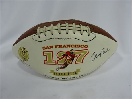 San Francisco 49er's Jerry Rice NFL Career Touchdown Record Signed
