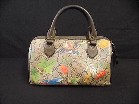 GUCCI 409529 GG Boston Bird Top Handle Handbag