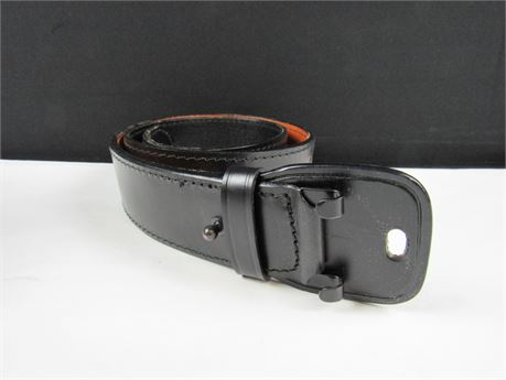 """Black Tactical Leather Belt - DUTYMAN 42"""" 1061LA (650)"""