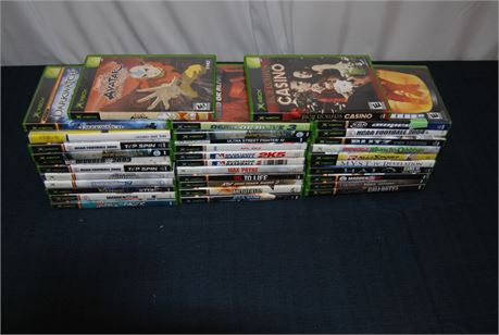 Xbox Game Lot (35) Titles  (500)