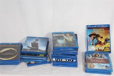 Lot of 20 Assorted Fantasy/Action Blu-Rays, Narnia, Dark Knight, Drive