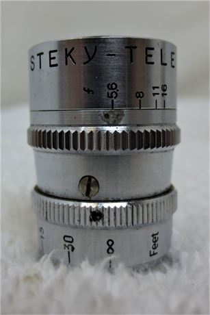 Steky-Tele Subminiature Camera Lens: 40mm F5.6 with Case (Rare)