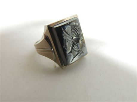Free Mason Ring 10kt Gold 6.8 Grams Size 7.5