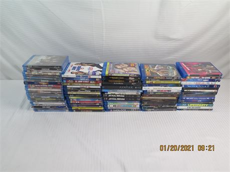 Lot of 80 Blu-ray DVD Movies, Shows; 21 Brand New! (670)