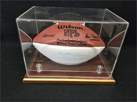 Wilson NFL Football. W/ Player Autograph.