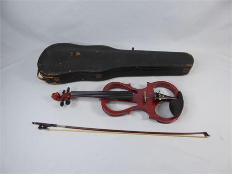 Cecilio Silent Electric Violin w/ Bow & Case