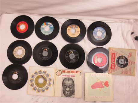 Lot of 45s 7 Inch Vinyl Records Lot K
