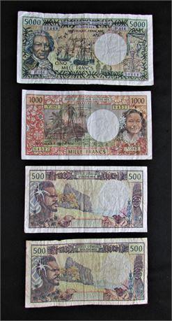 Tahitian Bank Notes