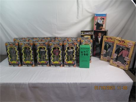 Huge Lot of The Three Stooges Collectible Figurines, Toys, Etc - Limited Edition