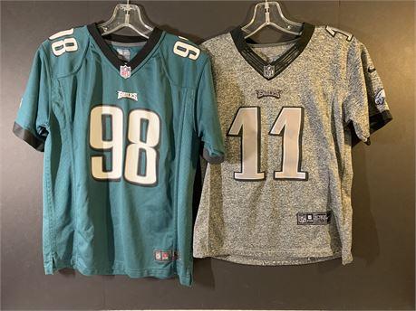 Philadelphia Eagles #98 Barwin Size L + #11 Wentz Size M