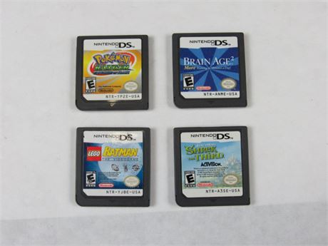 Nintendo DS Video Game Lot of 4 #VG7 (650)