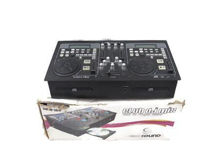 Gem Sound CDM-150 Dual CD Player DJ Sound Mixer w/ Box (670)