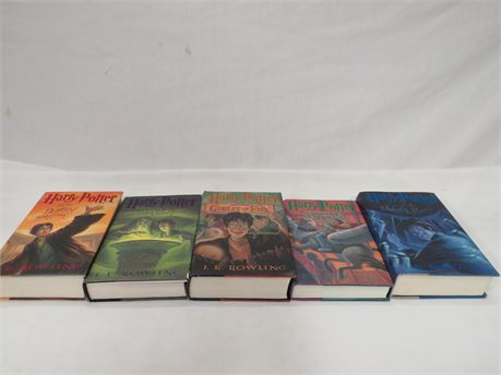 Lot of 5 Harry Potter Books 3-7 - Hardcover with Dust Jackets