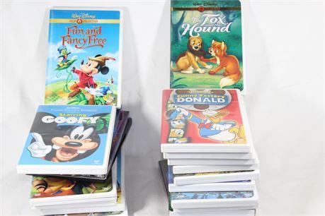 Lot of 20 Assorted Disney DVDs, Rare Titles, Goofy & Donald Cartoons, Atlantis