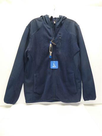 Mens Reebok Hooded Sweatshirt.Navy,Size Large NEW