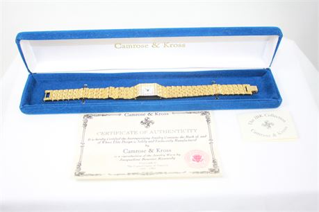 Camrose & Kross Reproduction Jackie Kennedy Wrist Watch W/ Cert