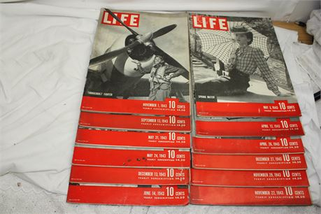 Lot of 12 LIFE Magazines from 1943 #2