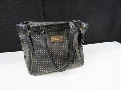 Marc New York Black Leather Studded Handbag by Andrew Marc (650)