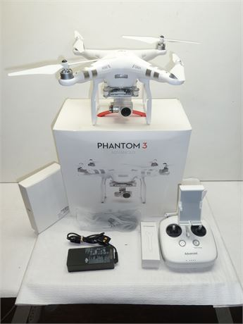 Phantom 3 Advanced, Camera/Drone:(Needs Battery Pack/Not Tested) Pre-Owned