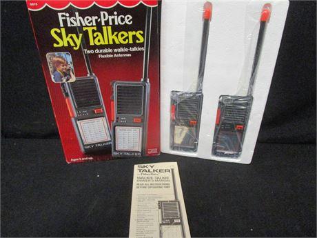 Vintage 1985 Fisher-Price Sky Talkers Walkie-Talkies - New