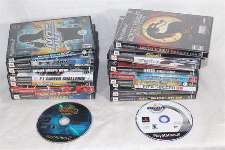 Assorted Lot of 20 Playstation 2 Games, Incl. Tenshu, Shinobi, GTA San Andreas