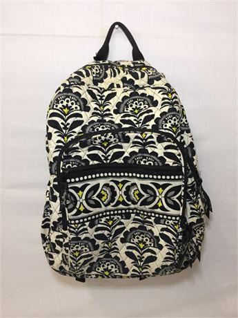 Vera Bradley Black/White Flower Backpack