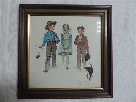 Norman Rockwell Picture Young Man's Fancy In Frame