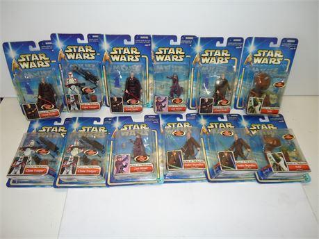 Star Wars Lot, 12 Assorted Hasbro Action Figures NIB