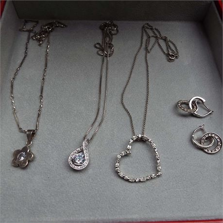 14.6 Grams Of Sterling Silver Assorted Jewelry Lot