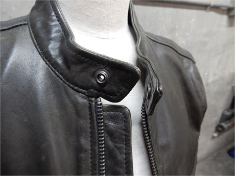 Lucky Brand Leather Jacket Size Men's Small (270 r4s2)