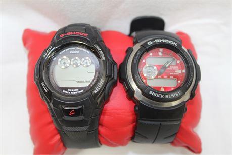 2 Casio G-Shock Digital Wrist Watches