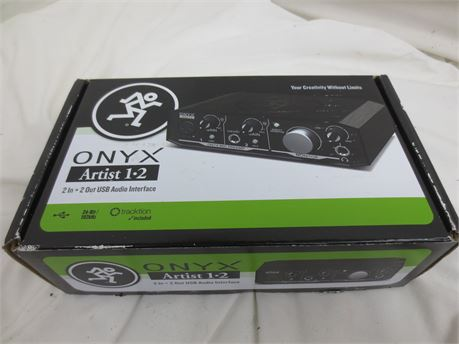 Mackie Onyx Artist 1-2 2 In x 2 Out USB Audio Interface