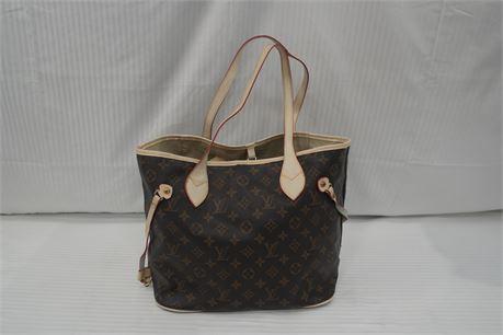 Womens Brown Monogram Handbag