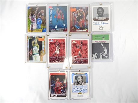 10 Assorted Collectible Basketball Cards (270)R1BS2