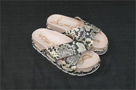 Sam Edelman Leather Slip On Womens Shoe Size 7  Snake Print
