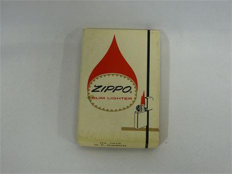 Vintage Zippo Slim Lighter w/ Original Box