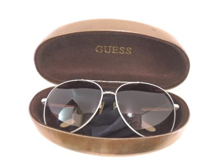 GUESS Sunglasses With Gold Case