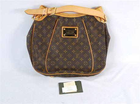 Louis Vuitton Galliera PM Shoulder Hobo Bag Monogram Coated Canvas Brown M56382
