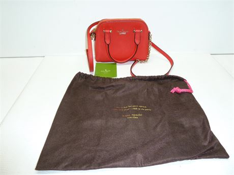 Kate Spade(New York) Shoulder/Evening Bag ,Red,With Carry Bag