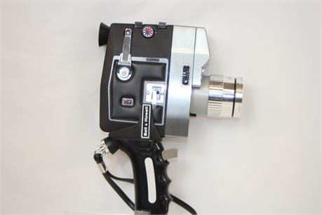 Vintage Bell & Howell Auto Load Duo Speed Zoomatic Optronic Eye 8mm Movie Camera