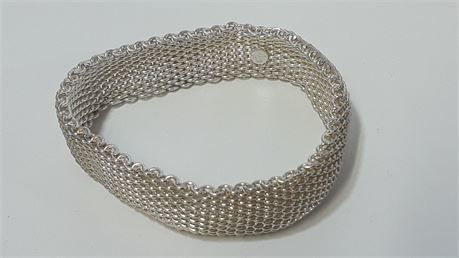 Tiffany & Co. Sterling Silver .925 Bracelet. 52.2 Grams Total Weight.