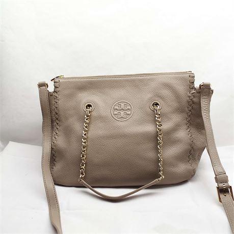 TORY BURCH Tan Leather Tote Beautiful Bag!!