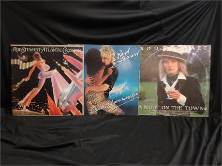 3 Rod Stewart Records: A Night Out On the Town, Atlantic Crossing, and BHMF
