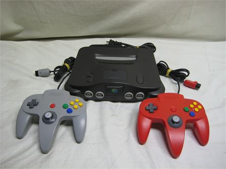 Nintendo 64 Video Game Console With 2 Controllers