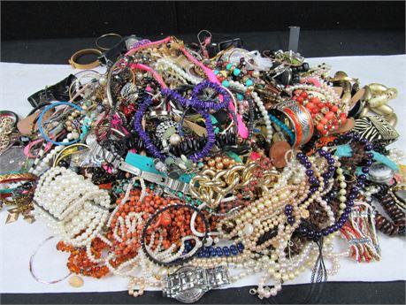 Lot of Costume Jewelry 22 lbs  G2 (650)